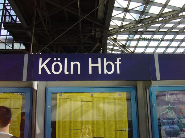 Köln Haubtbahnhof.